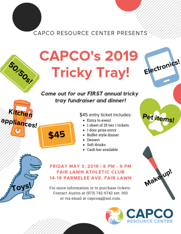 CAPCO 2019 Tricky Tray Event Flyer